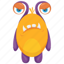 bug monster, cockroach monster, insect monster, monster cartoon, monster costume icon