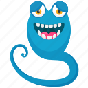 animal monster, horrible creature, monster cartoon, serpent monster, snake monster icon