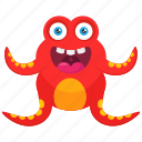 butterfly monster, insect monster, ladybug monster, monster cartoon, monster character icon