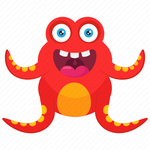 Butterfly monster, insect monster, ladybug monster, monster cartoon, monster character icon - Download on Iconfinder
