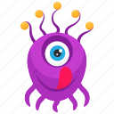 eyeball monster, monster cartoon, monster character, monster costume, one eyed monster