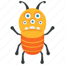 ant monster, funny ant monster, insect monster, monster cartoon, monster character icon