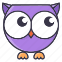 #fall, cartoon, cute, emoticon, halloween, monster, owl icon