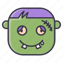 frankenstein, halloween, holiday, horror, monster icon