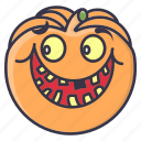 #fall, emotion, halloween, happy, pumpkin, smiley, vegetable icon