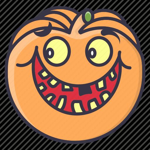 #fall, emotion, halloween, happy, pumpkin, smiley, vegetable icon