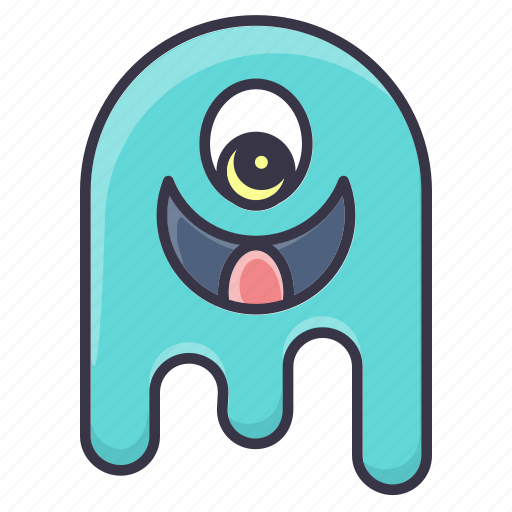 avatar, emoticon, ghost, halloween, happy, monster, smiling icon