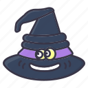 #fall, halloween, hat, holiday, magic, smiling, witch icon