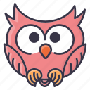 #fall, emoji, halloween, owl, tiny, winter icon