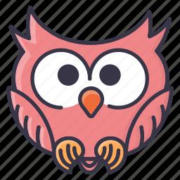 #fall, emoji, halloween, owl, tiny, winter icon
