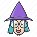 fall, halloween, magic, wand, witch icon