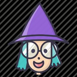 fall, halloween, magic, wand, witch icon