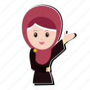 girl, hijab, muslim, smile icon