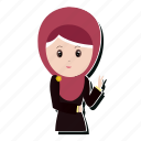 avatar, girl, hijab, peace icon