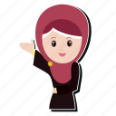 emoji, girl, hijab, smile icon