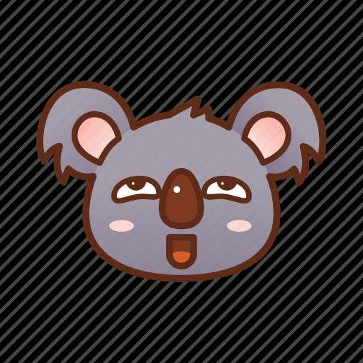 emoticon, koala, nasty, pervert icon