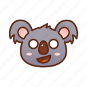 emoticon, koala, shocked icon