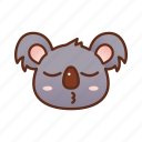 adorable, cute, emoticon, koala icon
