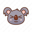 cute, emoticon, funny, koala, smile icon