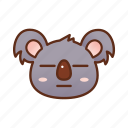emoticon, flat face, koala icon