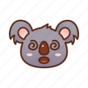 confuse, emoticon, koala icon