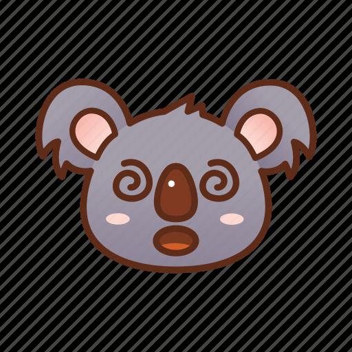 confuse, emoticon, koala icon