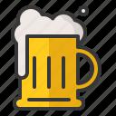alcohol, beer, foam, jug, oktoberfest, pint icon