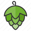 artichoke, beer, food, hop, oktoberfest, vegetable icon