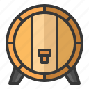 alcohol, barrel, beer, oktoberfest, tap, wine icon