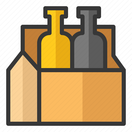 alcohol, beer, black beer, bottle, box, oktoberfest icon