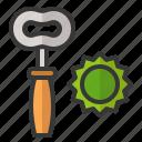 beer cap, can opener, oktoberfest, open, remover icon
