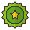 beer cap, bottle cap, oktoberfest, star icon