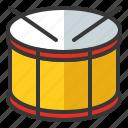 drum, drum sticks, instrument, musical, oktoberfest, parade icon