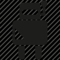 cartoon, character, cute robot, cyborg, humanoid, robot, robotic icon