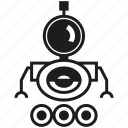 cartoon, character, cute robot, cyborg, humanoid, robot, robotic icon