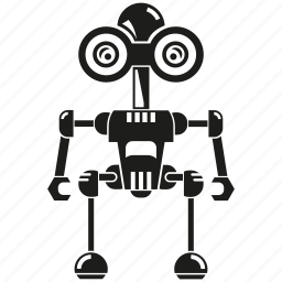 android, artificial intelligence, auto, cartoon, machine, mascot, robot icon