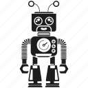 android, artificial intelligence, auto, cartoon, machine, mascot, robot icon