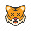 emoticon, shocked, tiger, wow icon