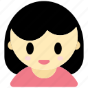 woman, avatar, user, female, girl, interface