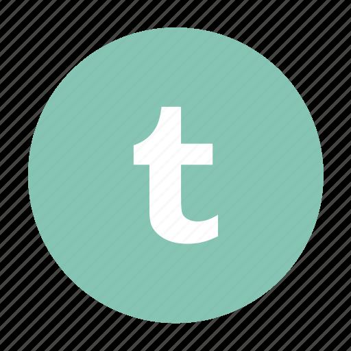 social, social media, t icon