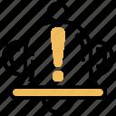 alert, dander, error, problem, warning icon