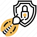 alert, antivirus, disinfection, firewall, scan icon