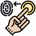 fingerprint, identity, security, unlock, verification icon
