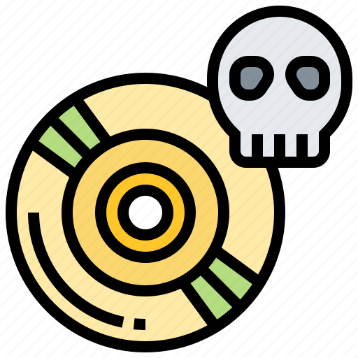 cd, ghost, programing, reboot, software icon