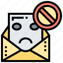 danger, hacking, inbox, mail, spam icon