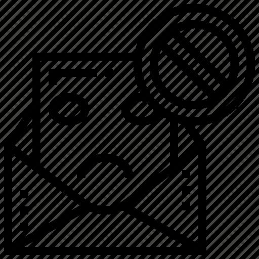 danger, hacking, inbox, mail, spam icon