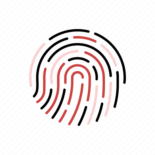 biometric, fingerprint, forensic, proof, science, threat, thumbprint icon