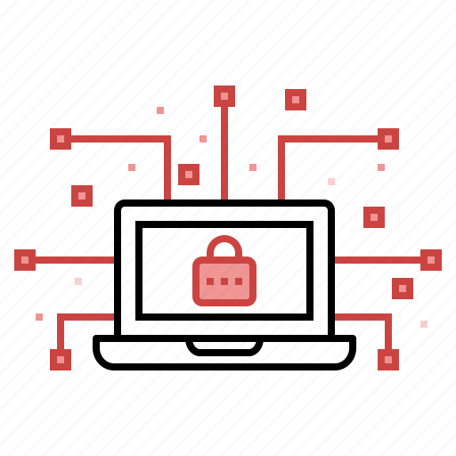 cyber, data, device, hack, lock, network, secure icon