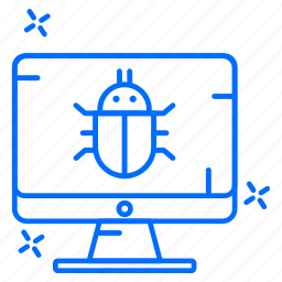 bug, cyber, hacker, protection, system icon