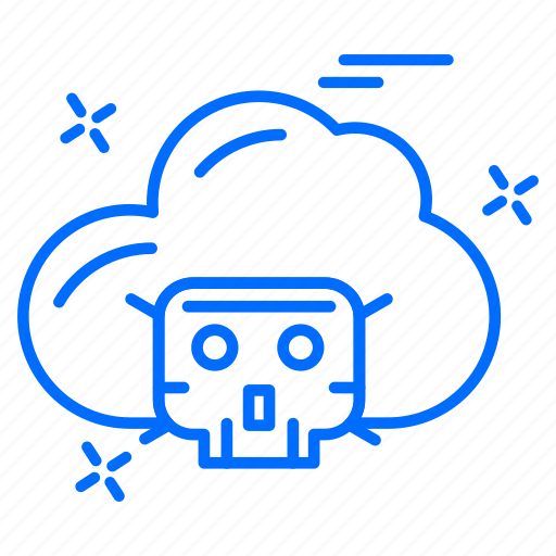 cloud, cyber, hacker, protection icon